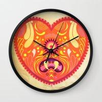 valentine Wall Clocks featuring Valentine by Akoala