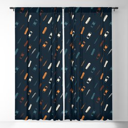 Vintage Vaccines - Small on Navy Blackout Curtain