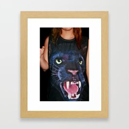 Cat Shirt Framed Art Print