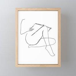 Reading Naked Framed Mini Art Print