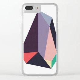 Geometric stone II Clear iPhone Case