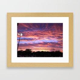 Atlanta Sunset Framed Art Print