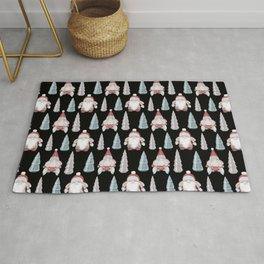 CHRISTMAS GNOMES - black Rug