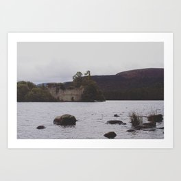 The castle of the loch Art Print
