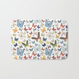 Watercolor Butterflies Bath Mat