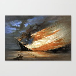 The Fate Of The Rebel Flag Canvas Print
