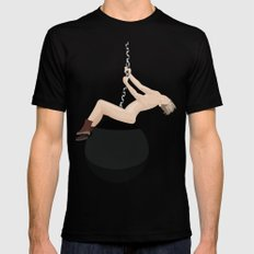 Miley Cyrus - Wrecking Ball Black LARGE Mens Fitted Tee