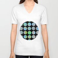 dots V-neck T-shirts featuring Dots  by LebensARTdesign