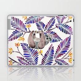 Happy Sloth – Tropical Indigo Leaves Laptop & iPad Skin