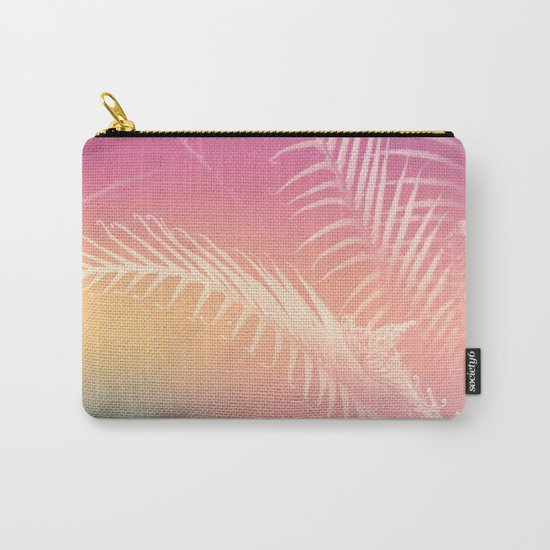 Gradient Tropical leaves Carry-All Pouch