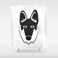 german Shower Curtains featuring German Shepherd by anabelledubois