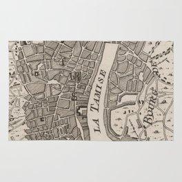 Vintage Map of London England (1764) Rug