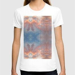 Cloudy sky at sunset reflections T-shirt