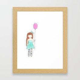 Charlie's Balloon Framed Art Print