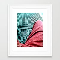 chill Framed Art Prints featuring chill by Davey Charles