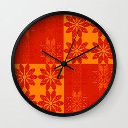 Flower Pattern11 Wall Clock