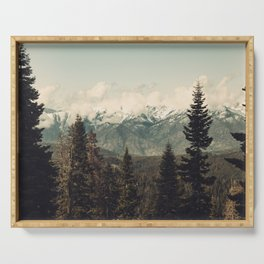 Snow capped Sierras Serving Tray