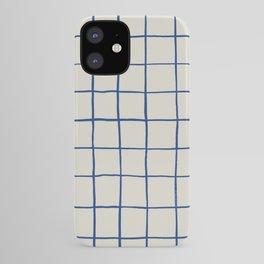 BASIC   Criss Cross Blue iPhone Case