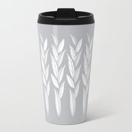 Growing Leaves: Silver Gray  Travel Mug