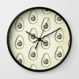 Avo-cat-o Wall Clock
