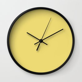 Light Yellow Goldenrod Color Wall Clock