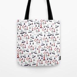 Micro Nautical Pattern Tote Bag