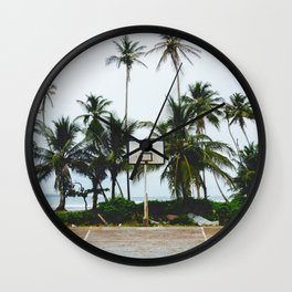Basketball on Isla Bastimento, Bocas del Toro, Panama Wall Clock