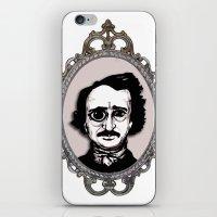 edgar allan poe iPhone & iPod Skins featuring Edgar Allan Poe by Michael J.