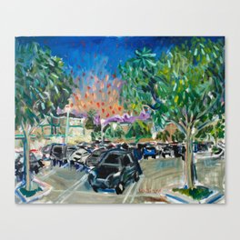 Evening in a Parking Lot Canvas Print