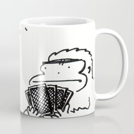 Ape Staredown at the Poker Table Coffee Mug