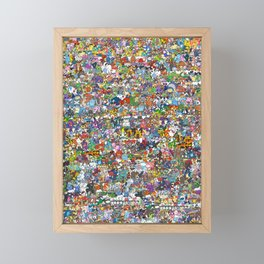 pokeman Framed Mini Art Print