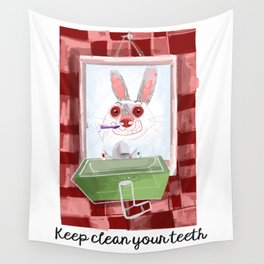 Keep clean your teeth Wall Tapestry