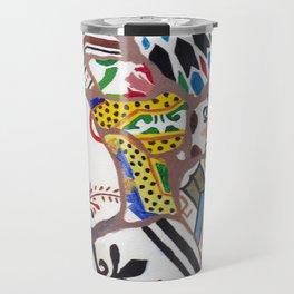 Gaudi tiles Barcelona Travel Mug