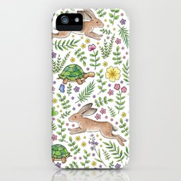 Spring Time Tortoises and Hares iPhone Case