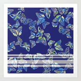 Butterfly Blue Art Print