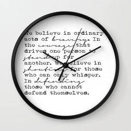 Dauntless Manifesto Wall Clock