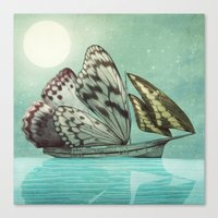 voyage Canvas Prints featuring The Voyage by Eric Fan