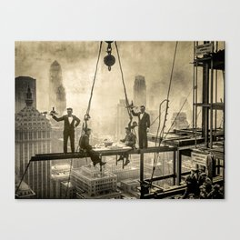 Sir, Where are your restrooms? Canvas Print