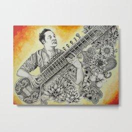 Pandit Ravi Shankar Metal Print