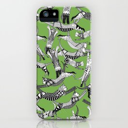 cat party palm green iPhone Case