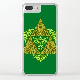 GREEN ZELDA TRIFORCE Clear iPhone Case