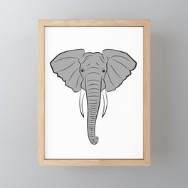 ELEPHANT HEAD Framed Mini Art Print