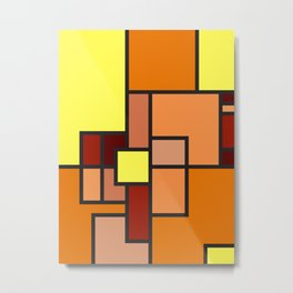 The Colors of / Mondrian Series - Lion King  Metal Print