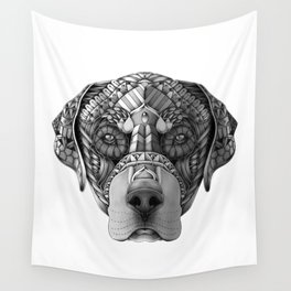 Ornate Rottweiler Wall Tapestry