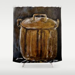 Old Copper Pot Shower Curtain