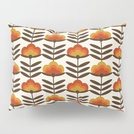 Boogie - retro florals minimal trendy 70s style throwback flower pattern Pillow Sham