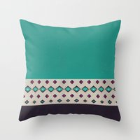 country Throw Pillows featuring country by spinL