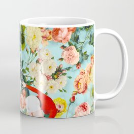 Floral and Pin Up Girls II Pattern Coffee Mug