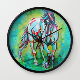 Free Spirit Horse Art Wall Clock