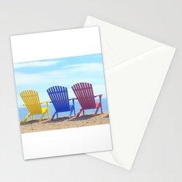 Adirondack Beach Chairs Stationery Cards